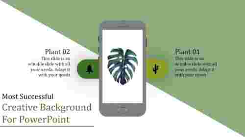 Creative background for powerpoint with Phone designs