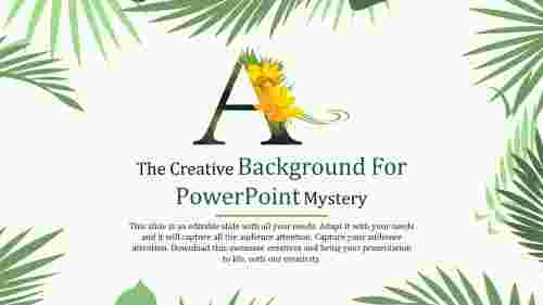 A Alphabet creative background for powerpoint