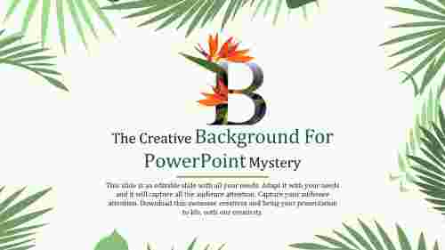 Creative background powerpoint template