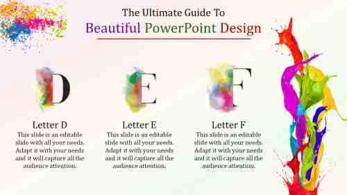 beautiful powerpoint design - paint model