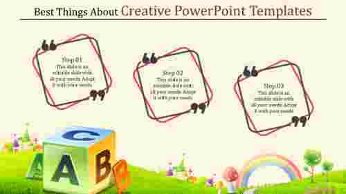 creative powerpoint templates with text boxes