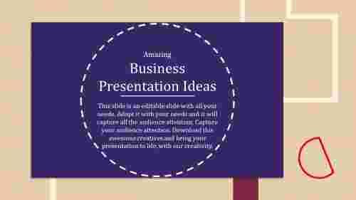 business presentation ideas with innovative model