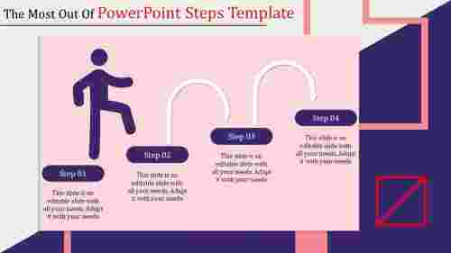 powerpoint steps template for growth