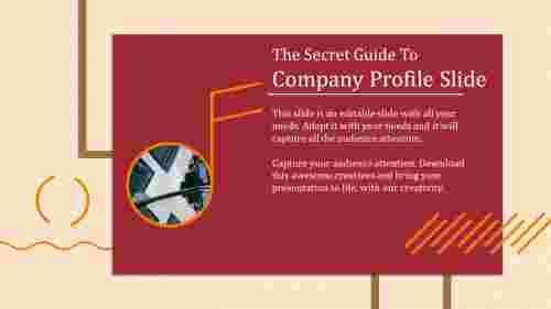 Attractive company profile slide