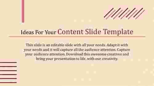 Portfolio content slide template