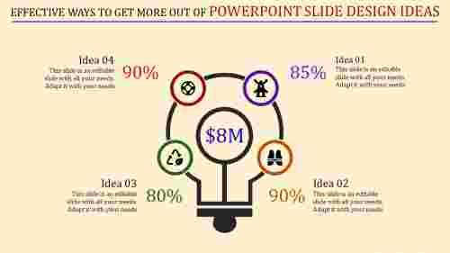 Powerpoint slide design ideas-Bulb diagram