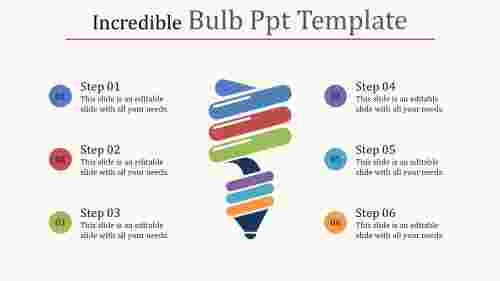 painted bulb PPT template