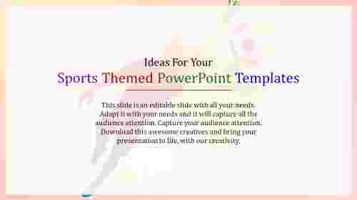 sports themed powerpoint templates concept