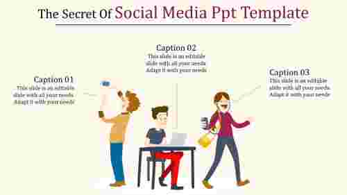 social media ppt template-The Secret Of Social Media Ppt Template