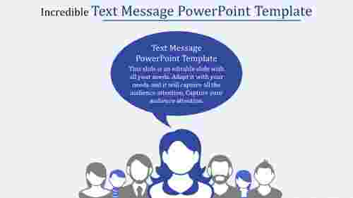 text message powerpoint template with images