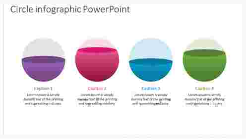 circle infographic powerpoint ideas with 3d effect