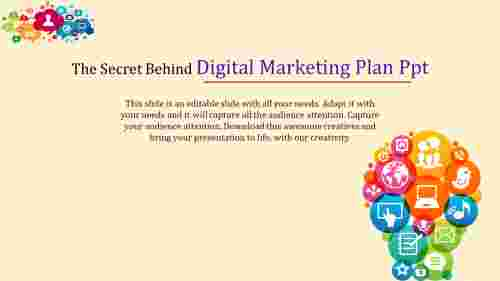 digital marketing plan powerpoint with bulb model