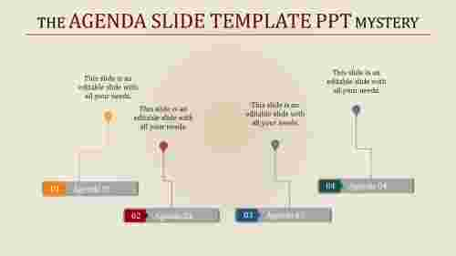 agenda slide template powerpoint with rectangles
