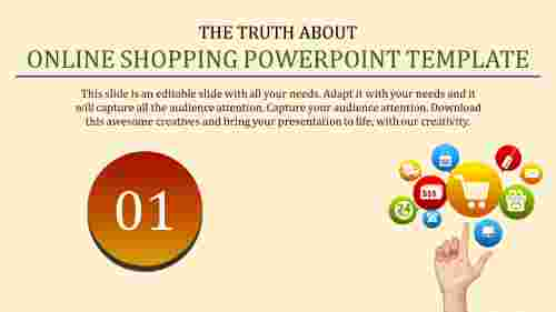 innovative online shopping powerpoint template