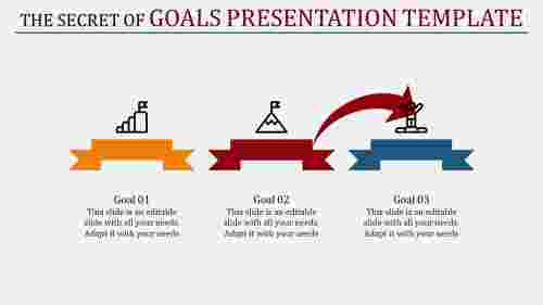 goals presentation template with arrows