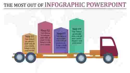 infographic powerpoint with truck