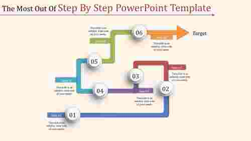 Step by step powerpoint template - arrows