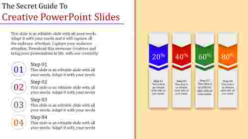 reative powerpoint slides - 4 multi  color
