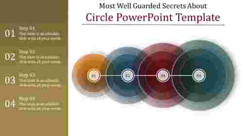 circle powerpoint template -  transparent circles