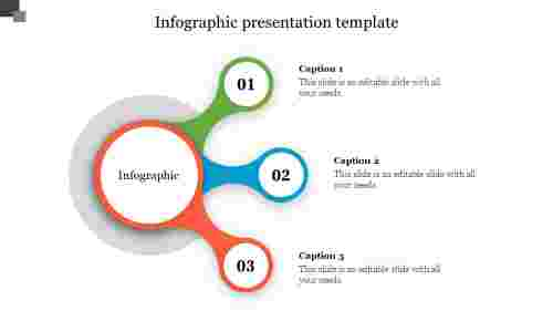 infographic presentation template - stretched circle