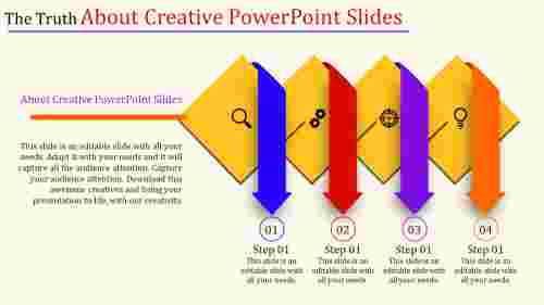 creative powerpoint slides - downward arrows