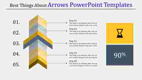 vertical arrows powerpoint templates