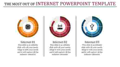 internet powerpoint template - multi color