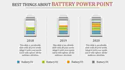 Battery PowerPoint - Multicolor
