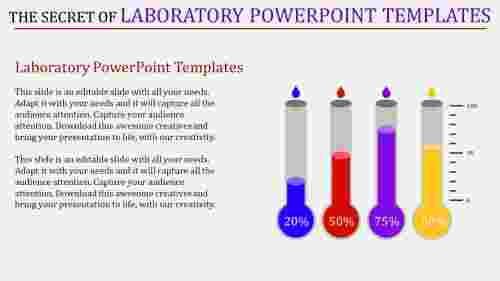 laboratory powerpoint templates - four rounded tubes