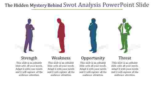 Professional SWOT analysis Powerpoint slide