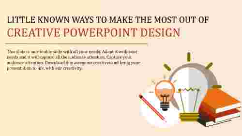 creative powerpoint design - bulb model