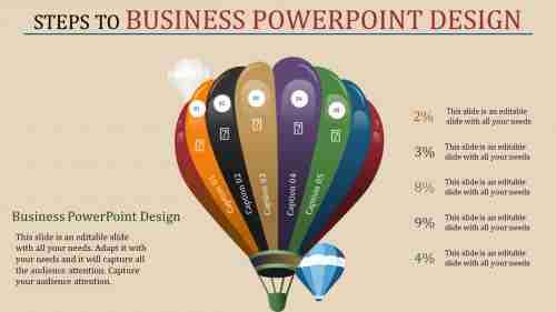 business powerpoint design - parachute design