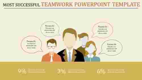Communication teamwork powerpoint template