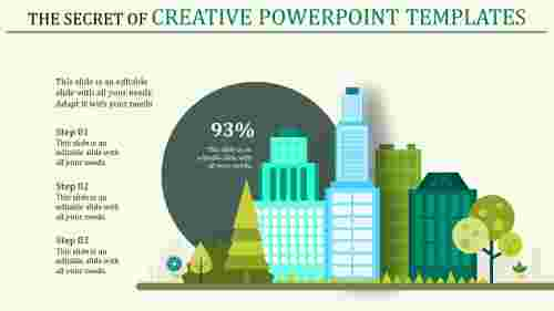 creative powerpoint templates with buildings