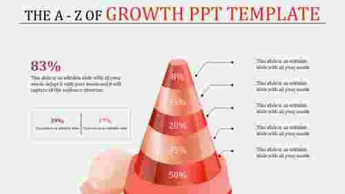growth powerpoint template - pyramid