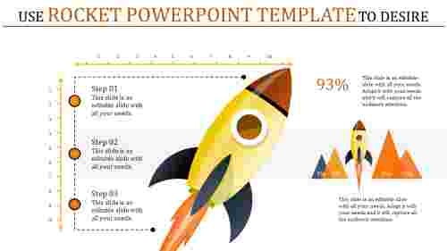 rocket powerpoint template - desire to success