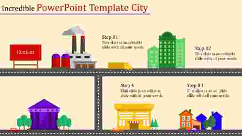 Industry Powerpoint Template City Diagrams