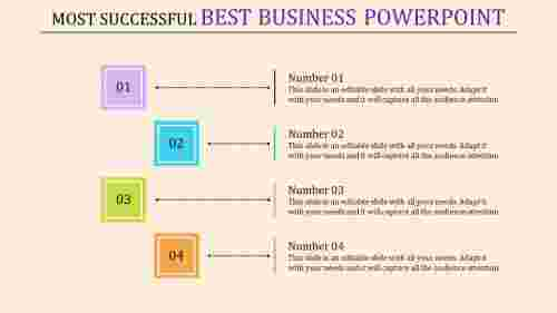 best business powerpoint - four square template