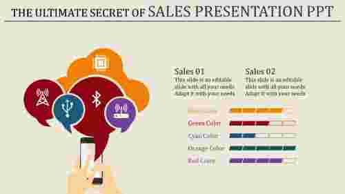 sales presentation powerpoint - multi color