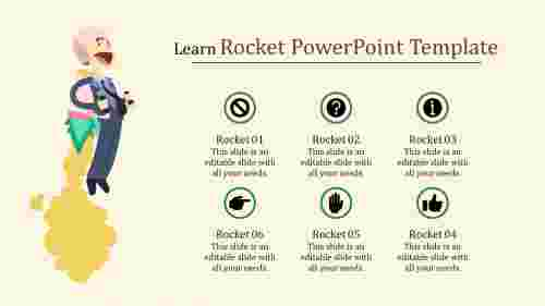 excellent rocket powerpoint template