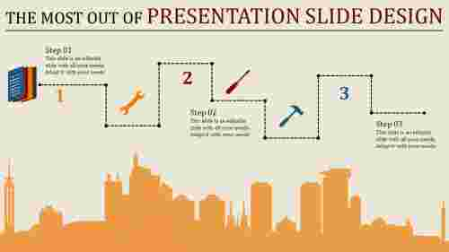 presentation slide design  with dotted line