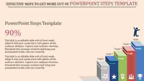 powerpoint steps template - to success