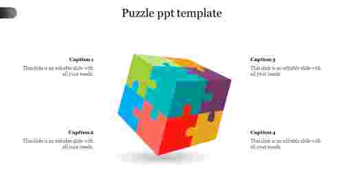 puzzle powerpoint template - rubik's  cube
