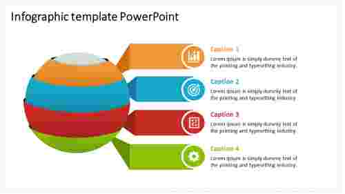 infographic template powerpoint global model