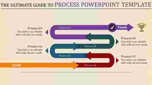 process powerpoint template with connected arrows