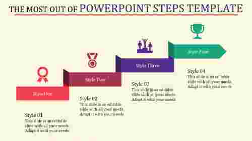powerpoint steps template for development
