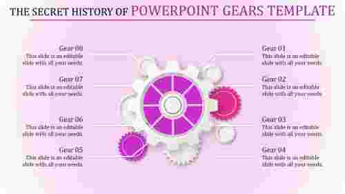 powerpoint gears template - Gearwheel model
