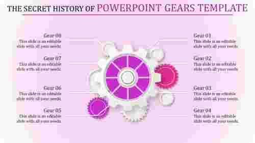 powerpoint gears template - Gearwheel model