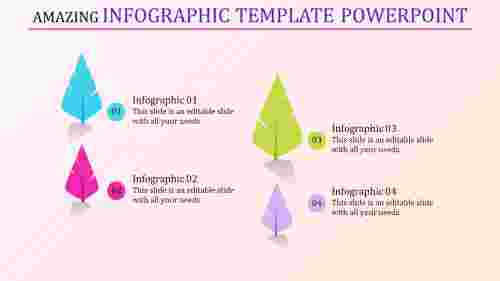 infographic template powerpoint with feathers