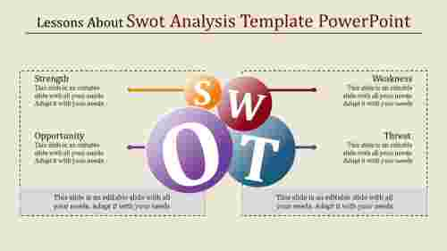 Ascending circle swot analysis template powerpoint
